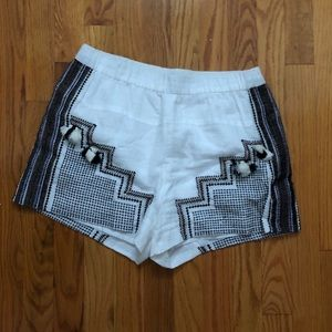 J. Crew Tassel Embroidered Shorts